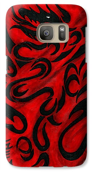 Galaxy Case featuring the painting The Dragon by Roz Abellera Art
