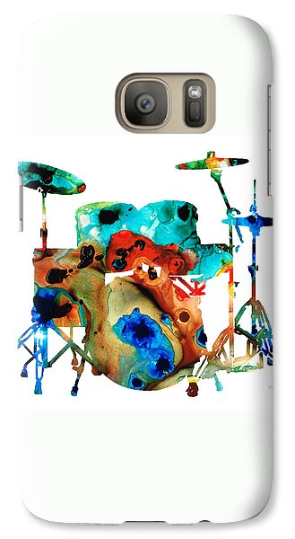 Drum Galaxy S7 Case - The Drums - Music Art By Sharon Cummings by Sharon Cummings
