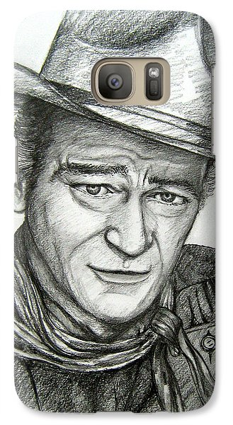 Galaxy Case featuring the drawing The Duke John Wayne by Patrice Torrillo