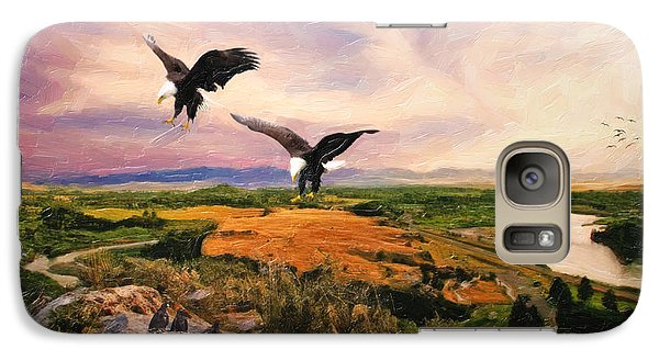 Galaxy Case featuring the digital art The Eagle Will Rise Again by Lianne Schneider