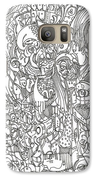 Galaxy Case featuring the drawing The Eagle's Eye Is The Brow Of Mine by Michael Ciccotello