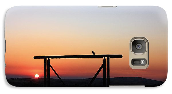 Galaxy Case featuring the photograph The Early Bird At Sunrise by Gerry Bates