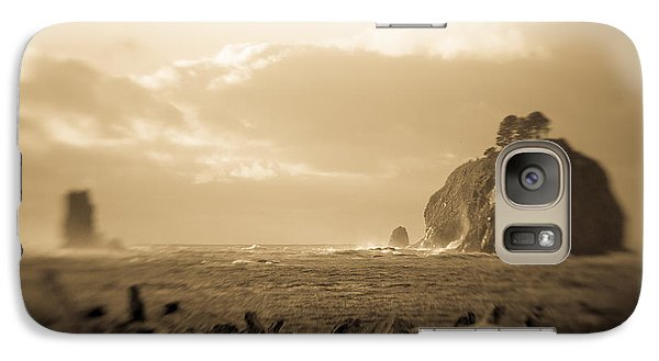 Galaxy Case featuring the photograph The Edge Of The World by Takeshi Okada