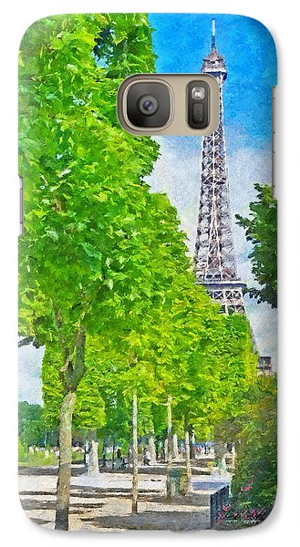 The Eiffel Tower In The Spring Of 2014 Galaxy S7 Case