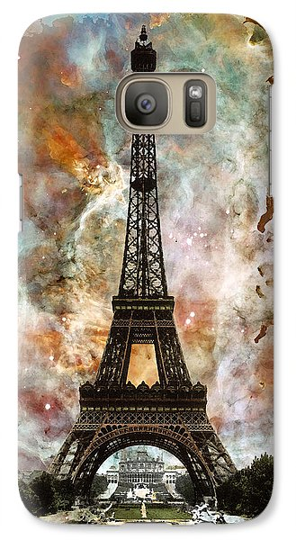 The Eiffel Tower - Paris France Art By Sharon Cummings Galaxy S7 Case