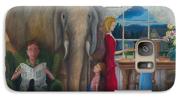 Galaxy Case featuring the painting The Elephant Ambulance And Cookies by Matt Konar