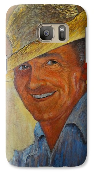 Galaxy Case featuring the painting The Beachcomber by Charles Munn