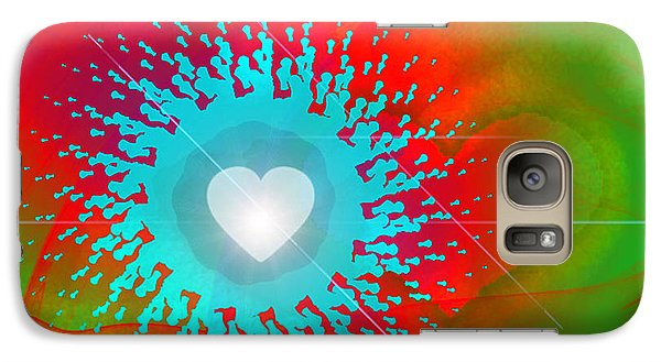 Galaxy Case featuring the digital art The Emergence Of Love by Ute Posegga-Rudel