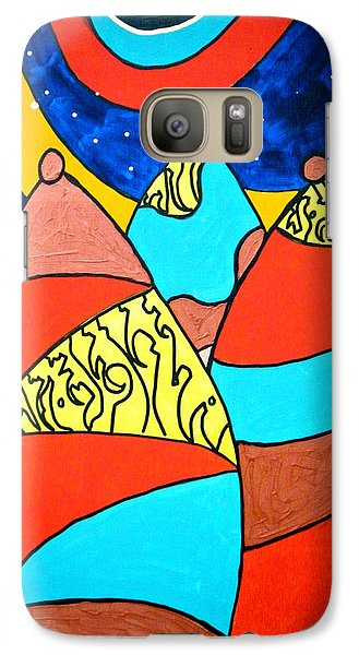 Galaxy Case featuring the painting The Emissaries by Clarity Artists