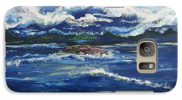 Galaxy Case featuring the painting The Enchanting Sea  by Lori  Lovetere