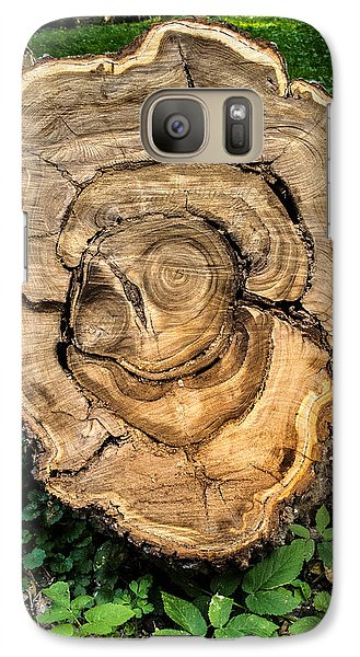 Galaxy Case featuring the photograph The End Of A Tree Life Tale by Vladimir Kholostykh