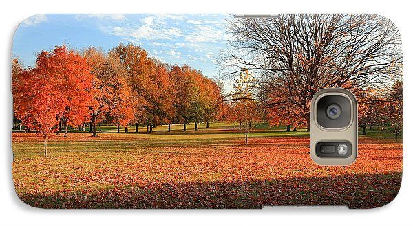 Galaxy Case featuring the photograph The End Of Autumn In Francis Park by Scott Rackers