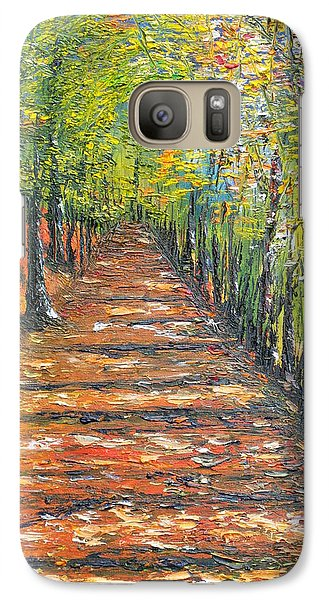 Galaxy Case featuring the painting The Endless Road     Sold by Conor Murphy