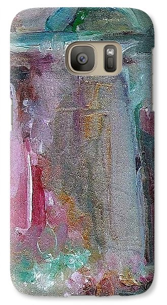 Galaxy Case featuring the painting The Entrance by Mary Wolf
