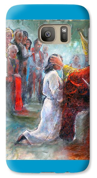 Galaxy Case featuring the painting The Episcopal Ordination Of Sierra Wilkinson by Gertrude Palmer