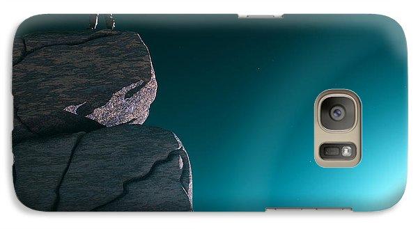 Galaxy Case featuring the digital art The Explorer... by Tim Fillingim