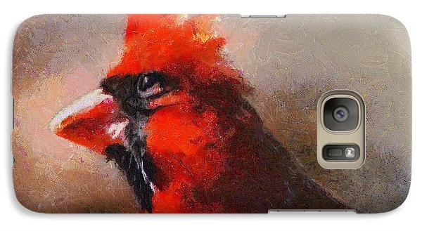 Galaxy Case featuring the digital art The Eye Of The Cardinal by Carrie OBrien Sibley