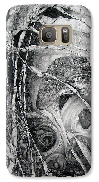 Galaxy Case featuring the drawing The Eye Of The Fomorii - Regrouping For The Battle by Otto Rapp