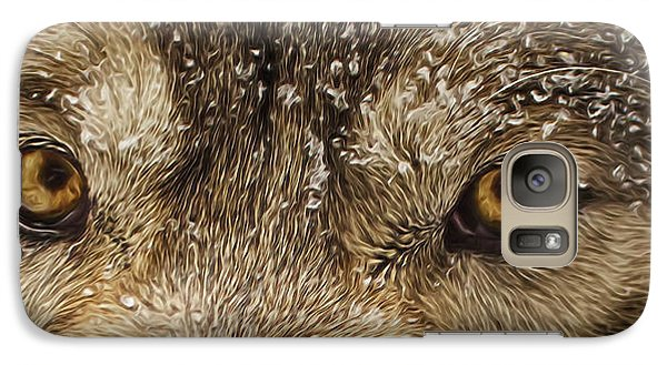 Galaxy Case featuring the photograph The Eyes Of The Wolf  by Brian Cross