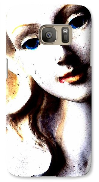 Galaxy Case featuring the photograph The Face Of A Woman by Faith Williams