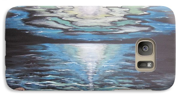 Galaxy Case featuring the painting The Fading Sun by Cheryl Pettigrew