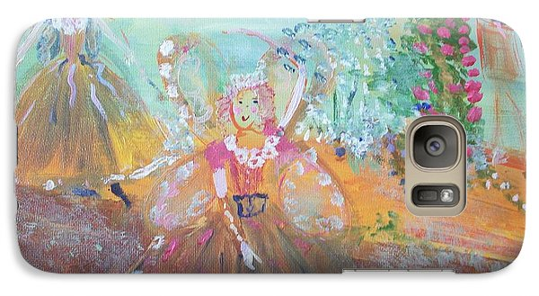 Galaxy Case featuring the painting The Fairies And The Artist by Judith Desrosiers