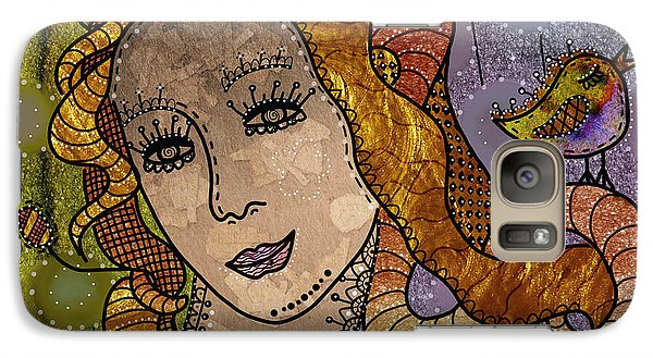 Galaxy Case featuring the digital art The Fairy Godmother by Barbara Orenya
