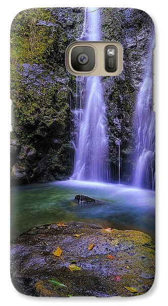 Galaxy Case featuring the photograph The Falls At Makamakaole by Hawaii  Fine Art Photography