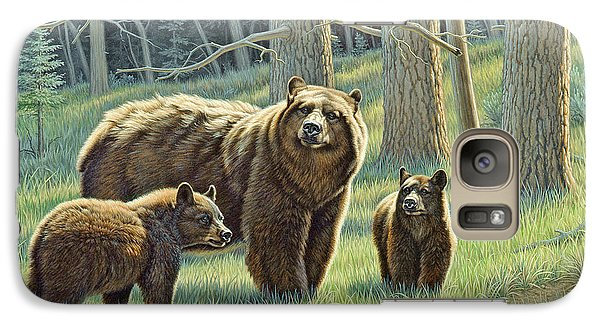 Bear Galaxy S7 Case - The Family - Black Bears by Paul Krapf