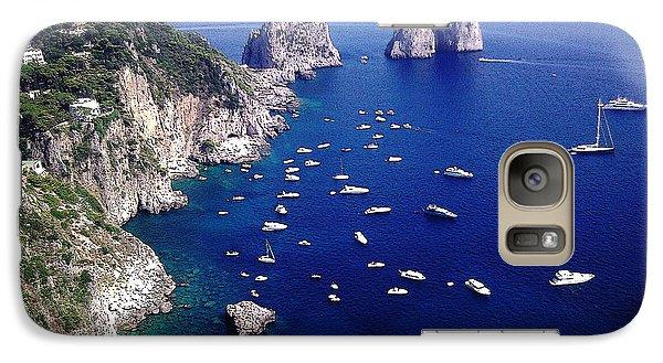 Galaxy Case featuring the photograph The Faraglioni Of Capri by Ze  Di