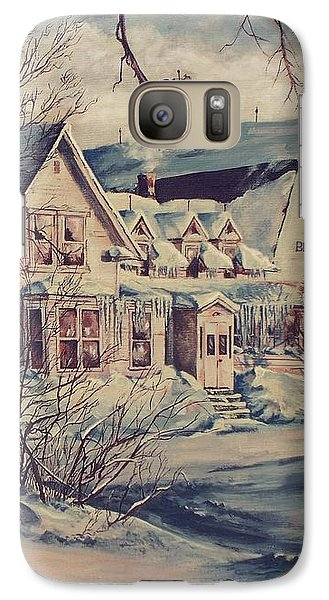 Galaxy Case featuring the painting The Farm by Joy Nichols