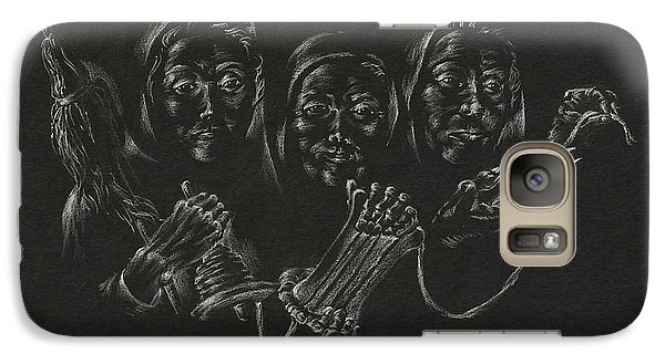 Galaxy Case featuring the drawing The Fates by Michele Myers