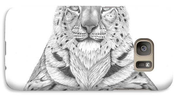 Galaxy Case featuring the drawing The Fearless Tiger by Patricia Hiltz