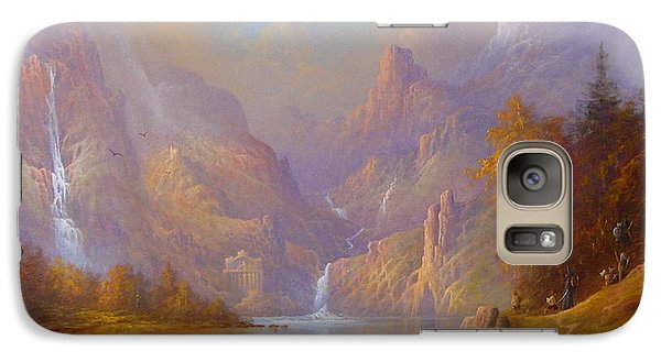 The Fellowship Doors Of Durin Moria.  Galaxy S7 Case by Joe  Gilronan