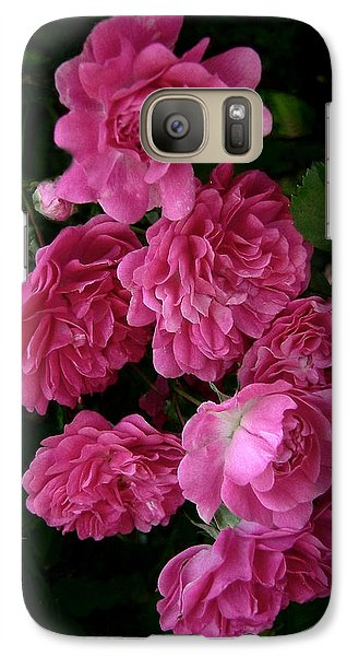 Galaxy Case featuring the photograph The Fence Roses by Louise Kumpf