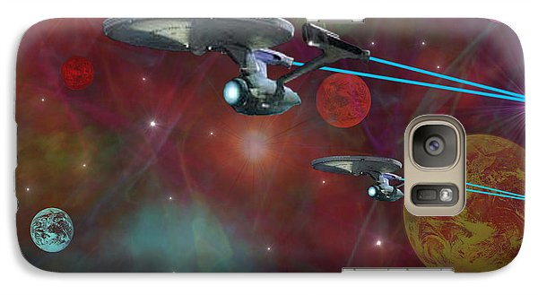 Galaxy Case featuring the digital art The Final Frontier by Michael Rucker
