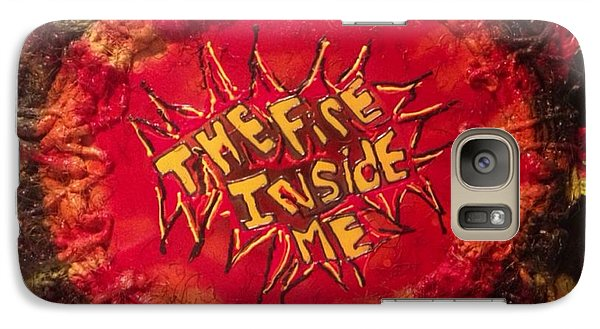 Galaxy Case featuring the painting The Fire Inside Me by Lisa Piper