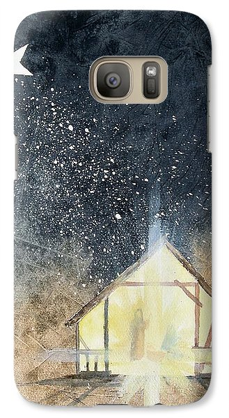 Galaxy Case featuring the painting The First Christmas by Jackie Mueller-Jones