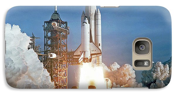 Galaxy Case featuring the photograph The First Shuttle Launch by Rod Jones