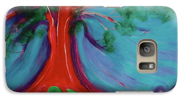 Galaxy Case featuring the painting The First Tree By Jrr by First Star Art