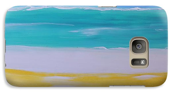 Galaxy Case featuring the painting The First Wave by Lyn Olsen