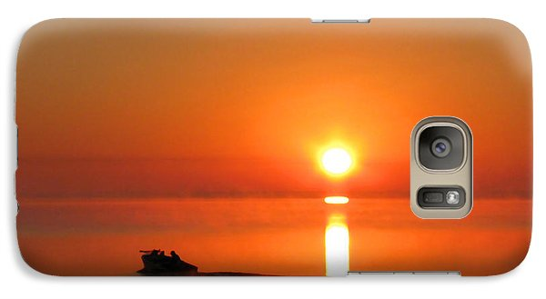 Galaxy Case featuring the photograph The Fish Are Waiting by Peg Urban