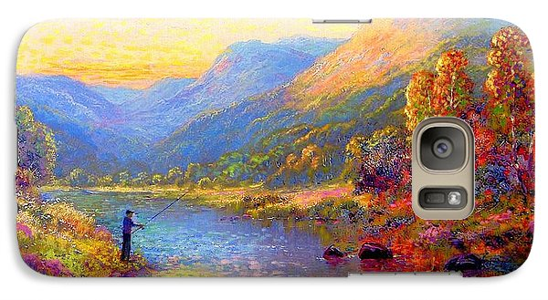 Orchid Galaxy S7 Case - Fishing And Dreaming by Jane Small