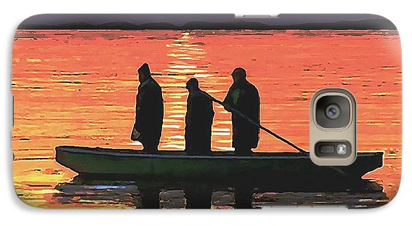 Galaxy Case featuring the painting The Fishermen by Sophia Schmierer