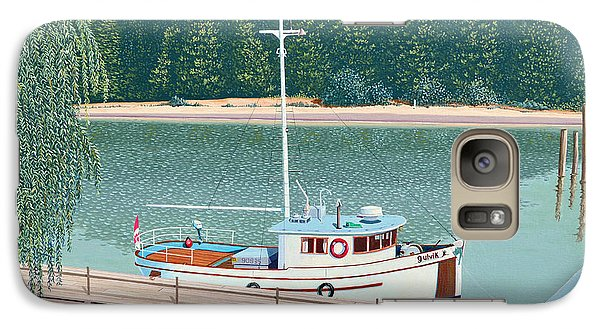 Galaxy Case featuring the painting The Converted Fishing Trawler Gulvik by Gary Giacomelli