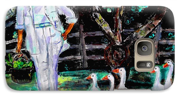Galaxy Case featuring the painting The Five Ducks by Helena Bebirian