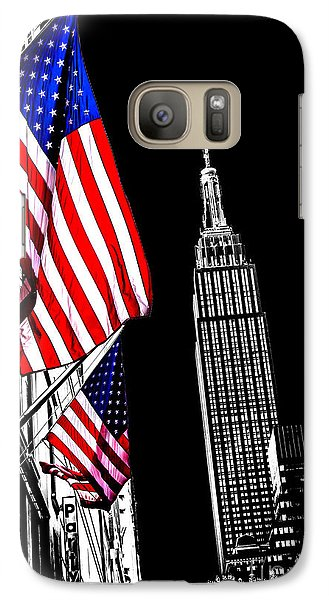 Empire State Building Galaxy S7 Case - The Flag That Built An Empire by Az Jackson