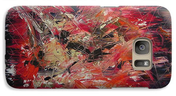 Galaxy Case featuring the painting The Flameous Painting by Lucy Matta