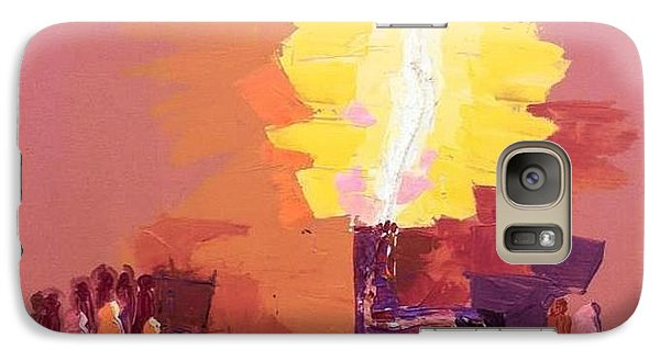 Galaxy Case featuring the mixed media The Flare A Beacon Of Hope And Anguish by Oyoroko Ken ochuko