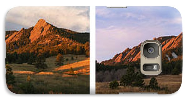 The Flatirons - Four Seasons Panorama Galaxy S7 Case
